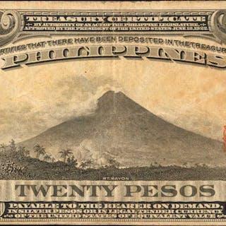 PHILIPPINES. Philippine Islands Treasury Certificate. 20 Pesos, 1941.