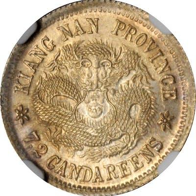 CHINA. Kiangnan. 7.2 Candareens (10 Cents), CD (1905). NGC MS-64.