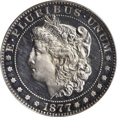 1877 Pattern Morgan Half Dollar. Judd-1514, Pollock-1678. Rarity-7-.