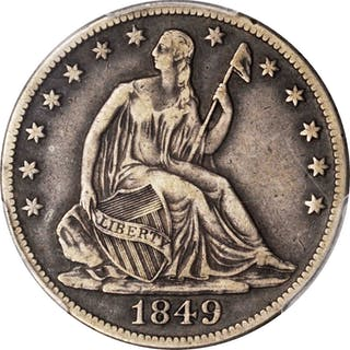 1849-O Liberty Seated Half Dollar. VF-30 (PCGS).