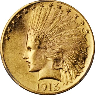 1913 Indian Eagle. MS-62 (PCGS).