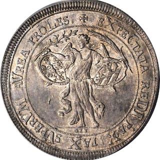 GERMANY. Nurnberg. Taler, 1696-GFN. PCGS MS-64+ Gold Shield.