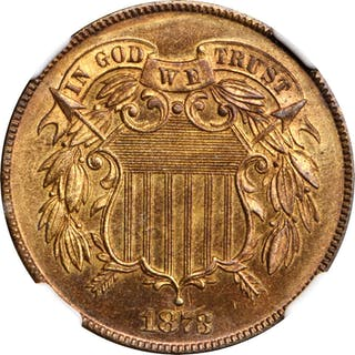 1873 Two-Cent Piece. Close 3. Proof-67 RB (NGC).