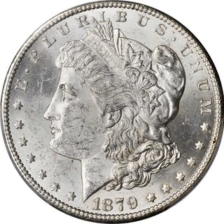 1879-S Morgan Silver Dollar. Reverse of 1878. Top 100 Variety. MS-62 (PCGS).
