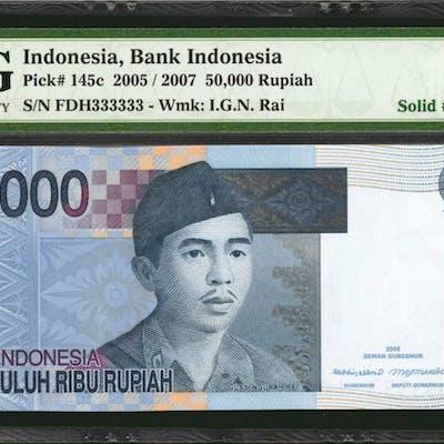 INDONESIA. Bank Indonesia. 50,000 Rupiah, 2005/2007. P-145c. Solid