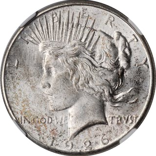 1926-S Peace Silver Dollar. MS-64 (NGC).