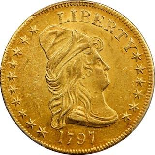 1797 Capped Bust Right Eagle. Heraldic Eagle. BD-4, Taraszka-12. Rarity-4+.