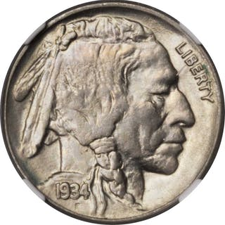 1934 Buffalo Nickel. MS-64 (NGC).
