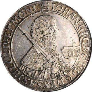GERMANY. Saxony. Taler, 1660-CR. Dresden Mint. Johann Georg II. NGC