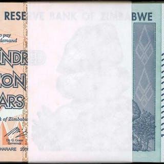 ZIMBABWE. Reserve Bank of Zimbabwe. 100 Trillion, 2008. P-91. Pack.