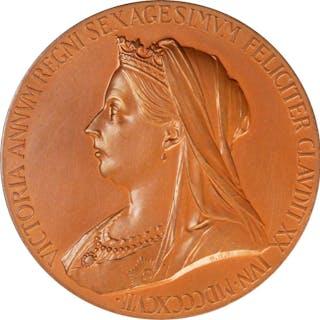 GREAT BRITAIN. Diamond Jubilee Bronze Medal, 1897. Victoria. UNCIRCULATED.