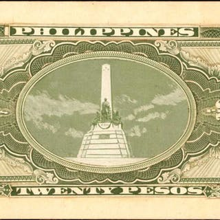 PHILIPPINES. Artist Proof. 20 Pesos, ND. P-Unlisted. Printers Essay.