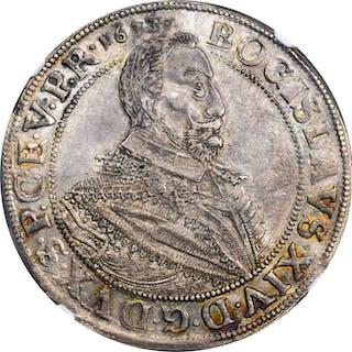 GERMANY. Pomerania-Cammin. Taler, 1633. Stettin Mint. Bogislaw XIV. NGC AU-58.