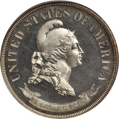 1869 Pattern Half Dollar. Judd-743, Pollock-824. Rarity-6+. Silver.