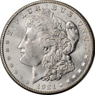 1921-S Morgan Silver Dollar. MS-65 (NGC).