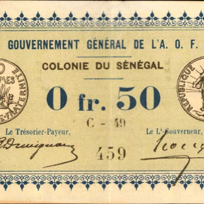 SENEGAL. Gouvernement General de l'Afrique Occidentale Francaise.