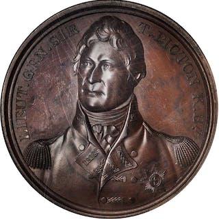 GREAT BRITAIN. Sir Thomas Picton Bronze Medal, ND (1820). NGC MS-63 BN.