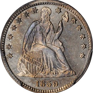 1859 Liberty Seated Half Dime. Proof-62 (PCGS). CAC--Gold Label.