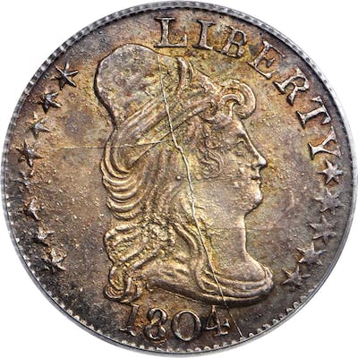 1804 Pattern Capped Bust Right Half Eagle. Private Restrike. Judd-30