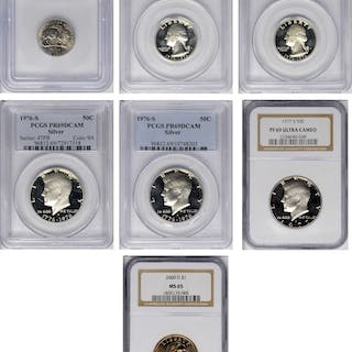 Lot of (7) Certified Modern Type Coins.