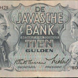 NETHERLANDS INDIES. Javasche Bank. 5 Gulden, 1938. P-78. Very Fine.