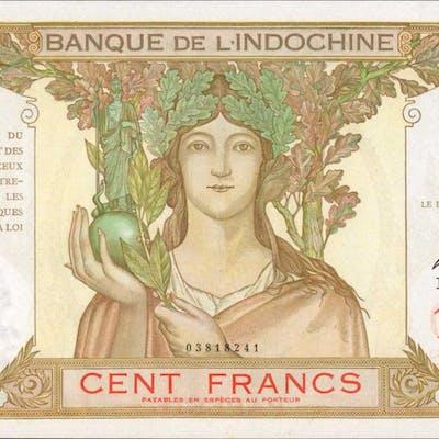 TAHITI. Banque de l'Indochine. 100 Francs, ND (1939-65). P-14d. About