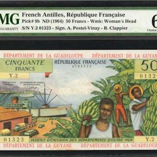 FRENCH ANTILLES. Republique Francaise. 50 Francs, ND (1964). P-9b.