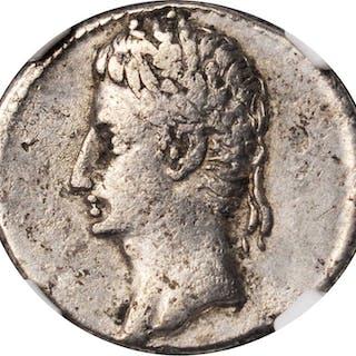 AUGUSTUS, 27 B.C.- A.D. 14. AR Denarius (3.43 gms), Spanish Mint