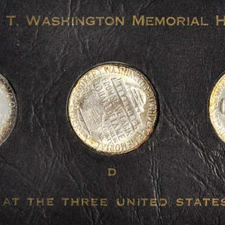 1946 Booker T. Washington Memorial, PDS Set, Mint State (Uncertified)