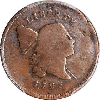 1795 Liberty Cap Half Cent. C-4. Plain Edge, Punctuated Date. VG-8 (PCGS).