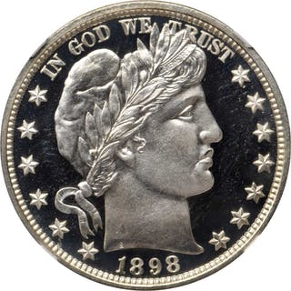 1898 Barber Half Dollar. Proof-68 Ultra Cameo (NGC).