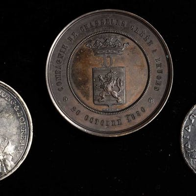 MIXED LOTS. European Medal Trio (3 Pieces). Grade Range: FINE to EXTREMELY