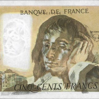 FRANCE. Banque de France. 500 Francs, 1981. P-156e. Offset Printing