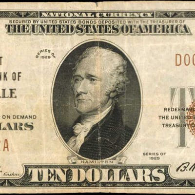 Riceville, Iowa. $10 1929 Ty. 1. Fr. 1801-1. The First NB. Charter
