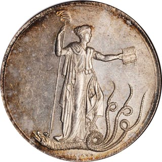 PERU. Silver Constitution Proclamation Medal, 1839. NGC MS-63.