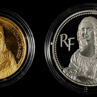 FRANCE. Duo of Euros (2 Pieces), 2003. BRILLIANT PROOF UNCIRCULATED.