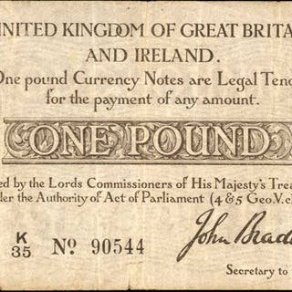 GREAT BRITAIN. Lords Commissioners of His Majesty's Treasury. 1 Pound