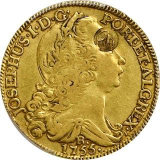 (ca. 1784) John Burger Regulated Brazilian 1755-R 6400 Reis ($8).