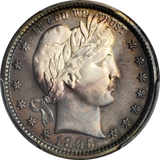1895 Barber Quarter. Proof-67+ (PCGS). CAC.
