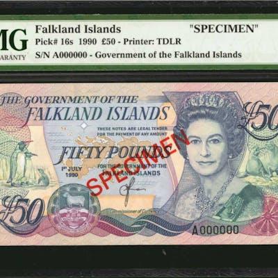 FALKLAND ISLANDS. Government of the Falkland Islands. 50 Pounds, 1990.