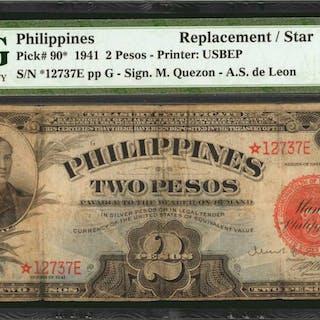 PHILIPPINES. Philippine Islands Treasury Certificate. 2 Pesos, 1941.