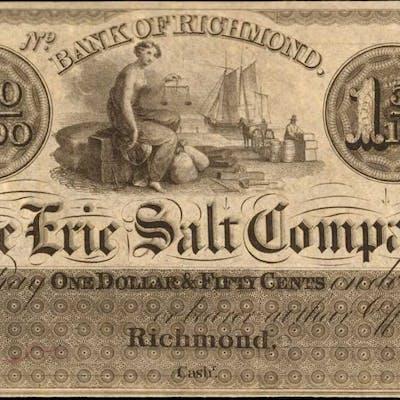 Richmond, Ohio. Bank of Richmond. The Erie Salt Company. ND (18xx).