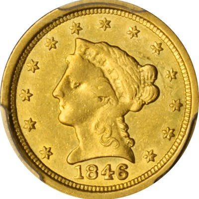 1846-O Liberty Head Quarter Eagle. Winter-1. EF-45 (PCGS).