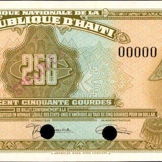 HAITI. Banque Nationale de la Republique d'Haiti. 250 Gourdes, 1919.