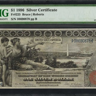 Fr. 225. 1896 $1  Silver Certificate. PMG Choice Extremely Fine 45.