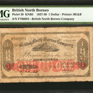 BRITISH NORTH BORNEO. British North Borneo Company. 1 Dollar, 1927-30.