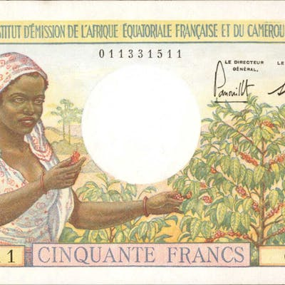 FRENCH EQUATORIAL AFRICA. Institut d'Emission de l'Afrique Equatoriale
