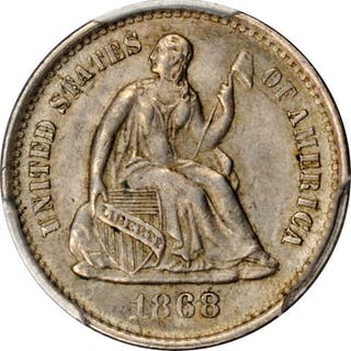 1868-S Liberty Seated Half Dime. MS-63 (PCGS).