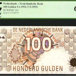 NETHERLANDS. Nederlandsche Bank. 100 Gulden, 1992 (1993). P-101. PCGS