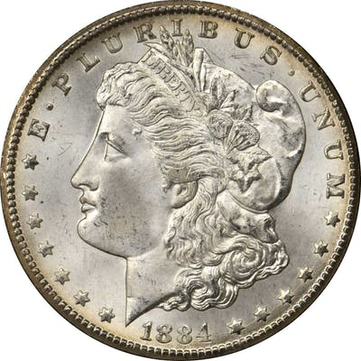 1884-CC GSA Morgan Silver Dollar. MS-66+ (NGC). CAC.